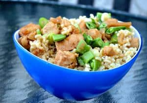 Asian Chicken Brown Rice Bowl