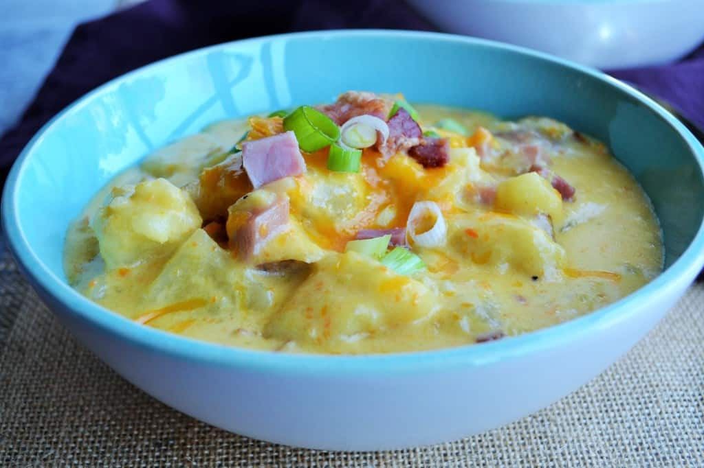 Beer Cheese Baked Potato Soup