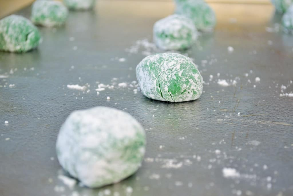 Shamrock Green Crinkle Cookies