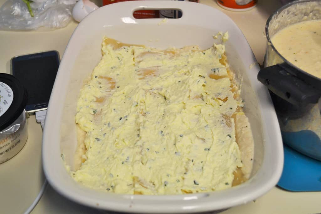White Garlic Lasagna