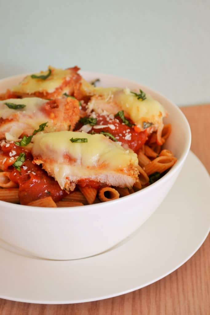 Baked Chicken Parmesan Penne