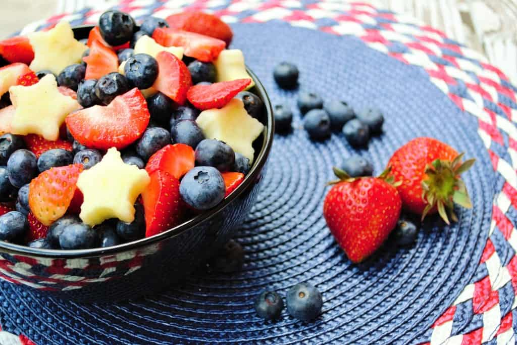Red White and Blue Fruit Salad - Pack Momma