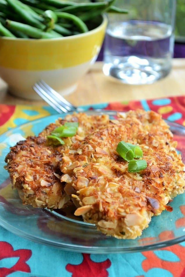 Crunchy Almond Baked Chicken