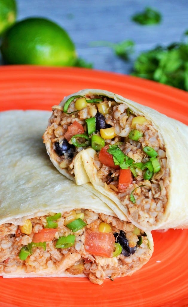 One Pot Slow Cooker Burrito