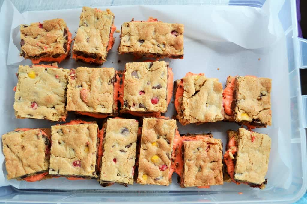 Halloween Whoopie Cookie Bars