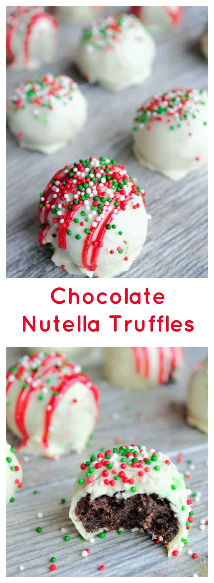 Chocolate Nutella Truffles | These Chocolate Nutella Truffles are the easiest sweet treat you will make this holiday season. Chocolaty, rich, decadent and perfect for any occasion! | Pack Momma | https://www.packmomma.com #nutella #truffles #christmascookies #christmasfood