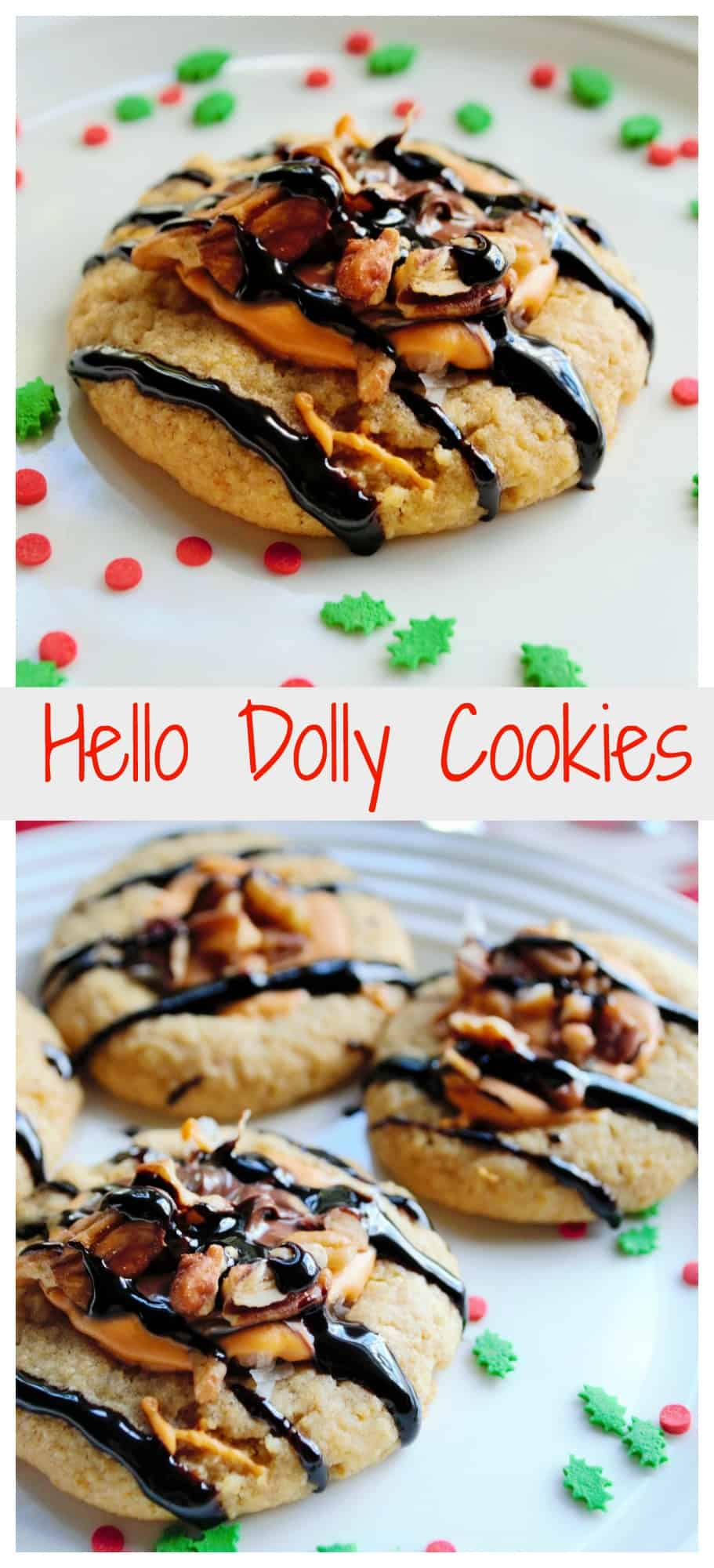Hello Dolly Cookies | Hello Dolly Cookies are a new twist on a favorite holiday classic treat.  All the deliciousness of a Hello Dolly Cookie bar now in the form of a cookie! | Pack Momma | https://www.packmomma.com #hellodolly #hellodollycookies #magicbars #christmascookies #christmasfood