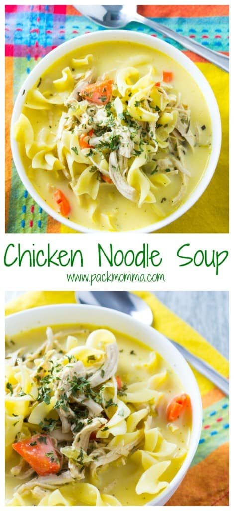This Chicken Noodle Soup is definitely not the can of soup from your childhood. Hearty, creamy and nutritious, this soup will make being a grown up worth it!