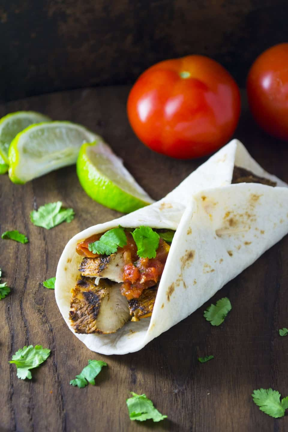 Cilantro Lime Chicken Wraps