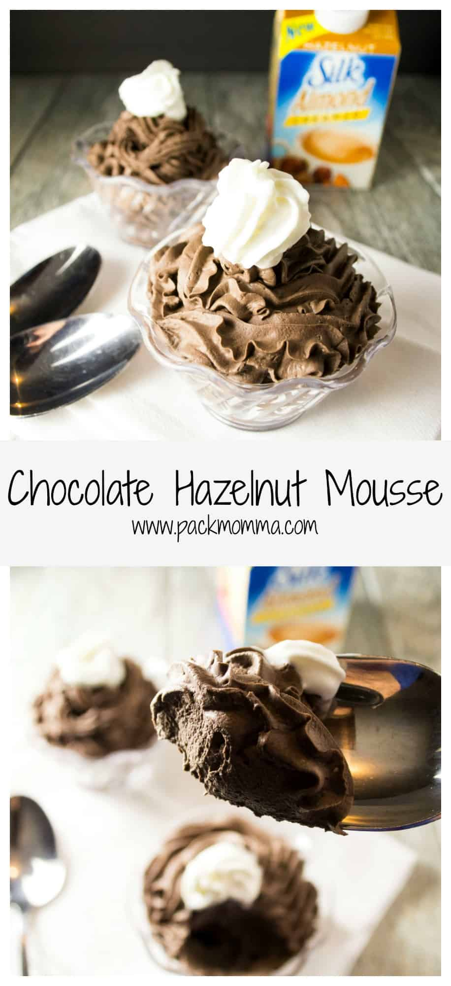 Chocolate Hazelnut Mousse | Treat yourself to the perfect cup of coffee and this decadent low fat Chocolate Hazelnut Mousse all thanks to dairy free Silk Creamer. | Pack Momma | https://www.packmomma.com