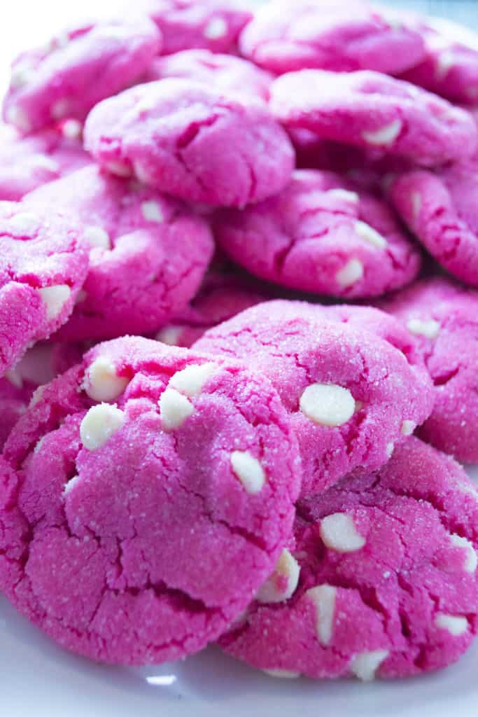 Pink White Chocolate Sugar Cookies - Pack Momma