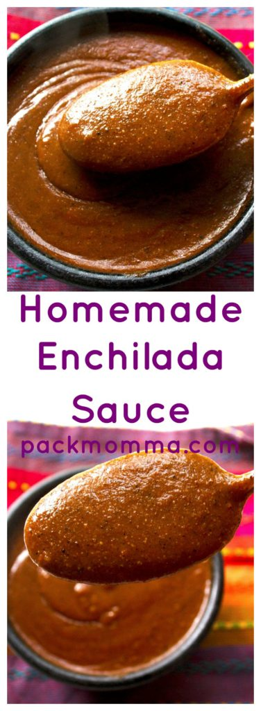 Homemade Enchilada Sauce | Homemade Enchilada Sauce is so quick and easy to make and will blow the canned stuff right out of your pantry! Rich, thick, spicy and delicious! | Pack Momma | www.packmomma.com