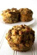 Stuffing Muffins | Stuffing Muffins are a fun twist on a classic holiday dish. Liven up your holiday dinner table with this new way to serve your favorite stuffing recipe. | Pack Momma | https://www.packmomma.com