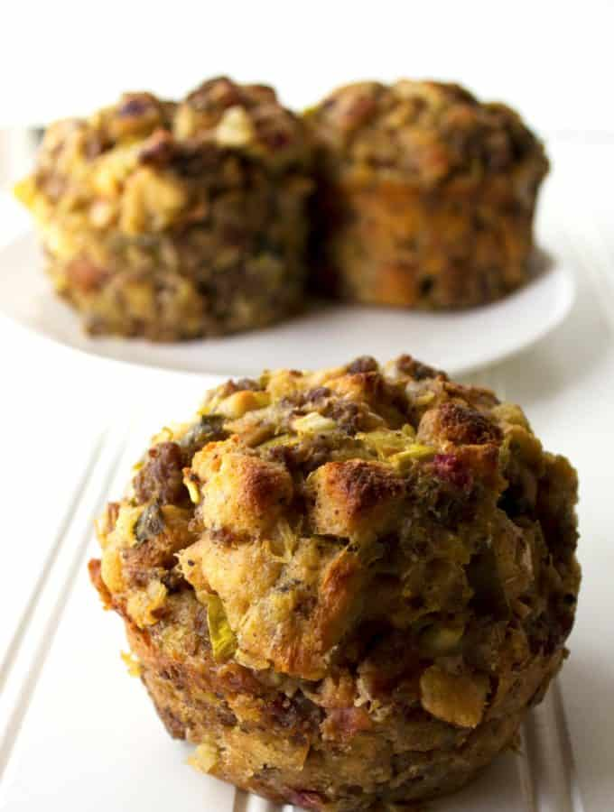 Stuffing Muffins | Stuffing Muffins are a fun twist on a classic holiday dish. Liven up your holiday dinner table with this new way to serve your favorite stuffing recipe. | Pack Momma | www.packmomma.com