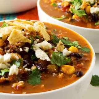 Easy Chicken Tortilla Soup | Easy Chicken Tortilla Soup is the perfect hearty spicy comfort food to serve up to your family and friends.This is sure to be your new favorite soup recipe. | Pack Momma | www.packmomma.com