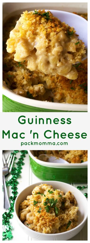 Guinness Irish Macaroni and Cheese | Guinness Irish Macaroni and Cheese perfectly combines the richness of Guinness and sharp delicious Irish cheeses for the ultimate macaroni and cheese dish. | Pack Momma | www.packmomma.com