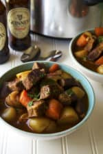 Slow Cooker Guinness Irish Stew | Slow Cooker Guinness Irish Stew is the perfect comfort food to celebrate St. Patrick's Day or any day with family and friends. | Pack Momma | www.packmomma.com