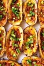 Loaded Potato Skins | These Loaded Potato Skins are easy, cheesy delicious to make and are the perfect family favorite appetizer for game day or any day! | Pack Momma | www.packmomma.com