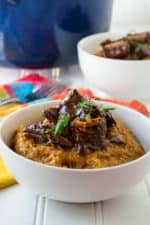 Red Chile Sauce Braised Beef | Red Chile Sauce Braised Beef is tender braised beef swimming in a spicy red chile sauce that is the perfect combination of heat and delicious flavor. | Pack Momma | www.packmomma.com