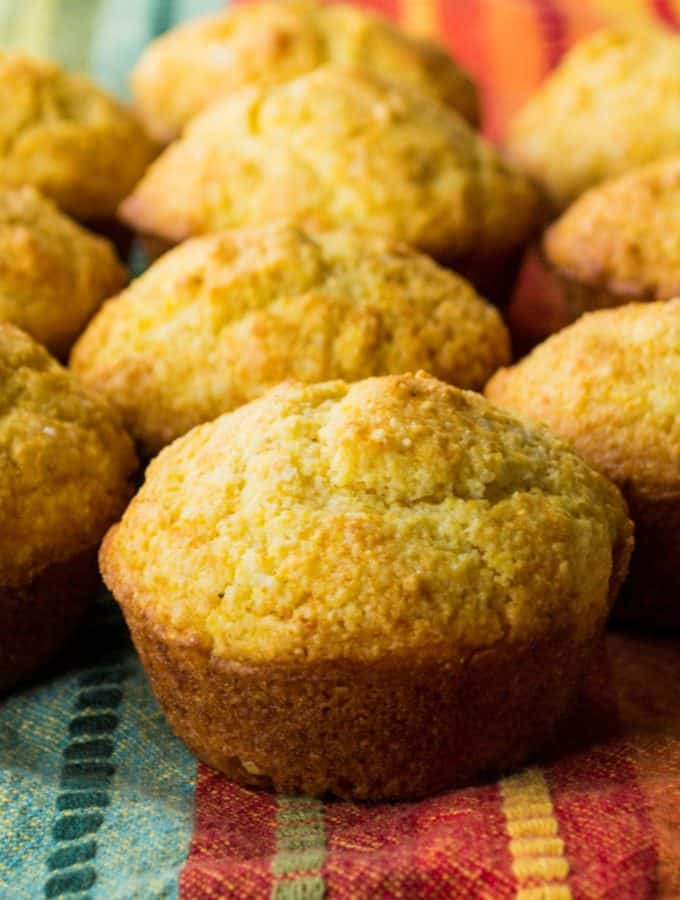 Honey Cornbread Muffins | These Honey Cornbread Muffins are super easy and super fast to make. They are moist and rich and the perfect complement to any of your favorite meals. | Pack Momma | www.packmomma.com