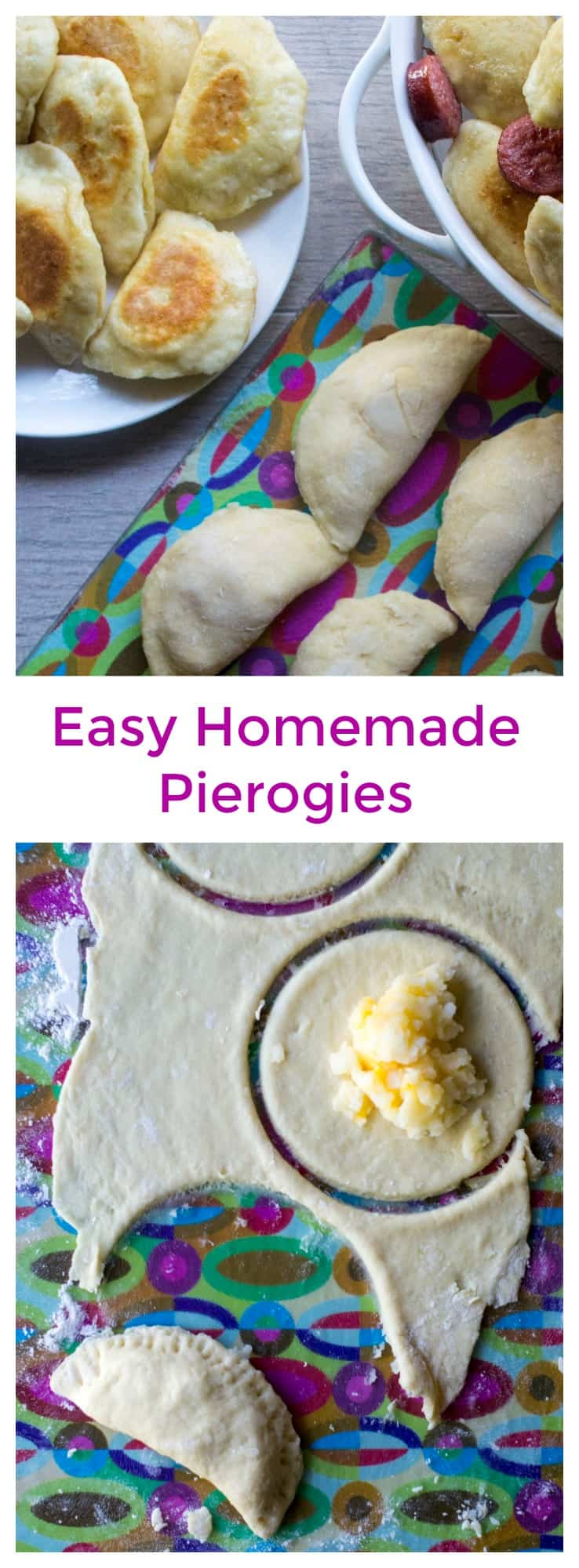 Homemade Pierogies | Homemade Pierogies are easy to make dumplings with a tasty potato and cheese filling and then boiled and sauteed in butter for the most delicious dish! #pierogies #homemadepierogies #polishfood