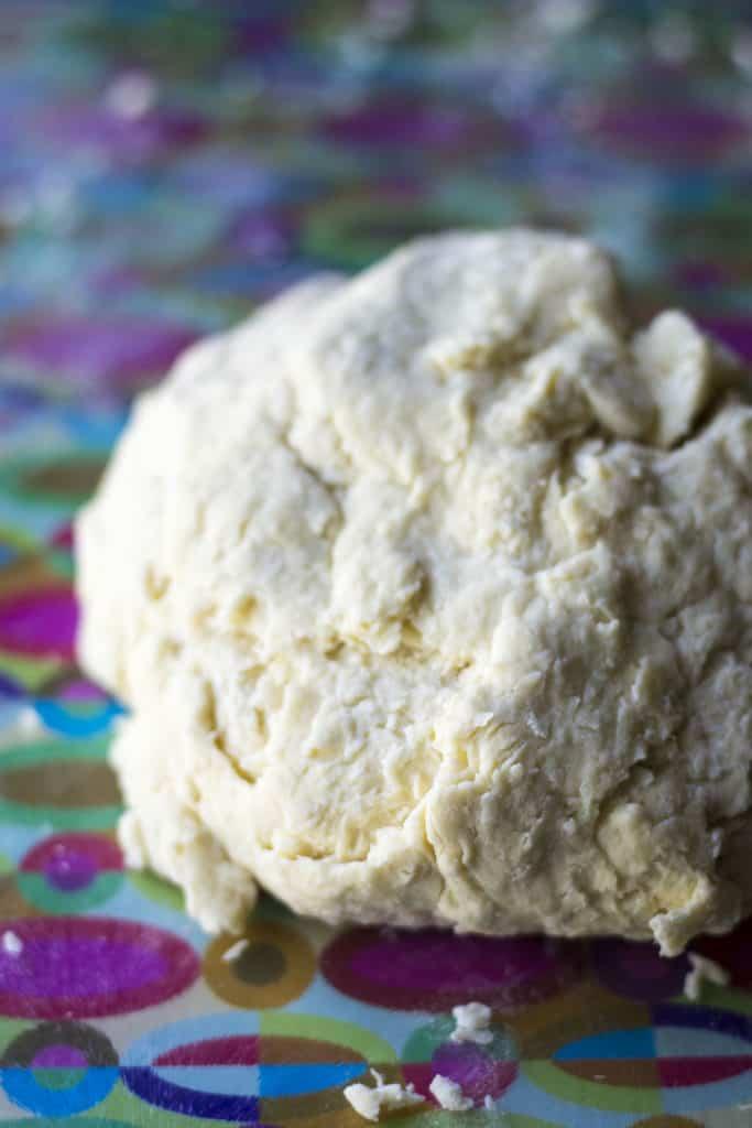 Homemade Pierogi dough in a ball