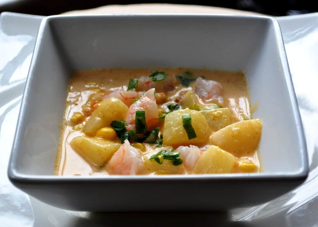 Spicy Corn Chowder with Shrimp