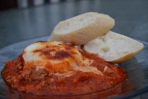Italian Sausage Polenta Skillet