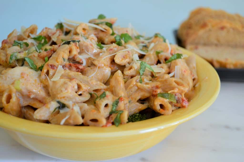 Red Pepper Pasta with Chicken