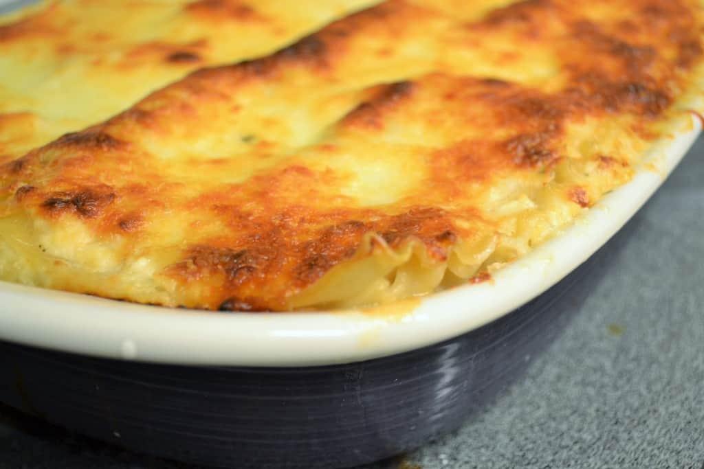 White Garlic Lasagna