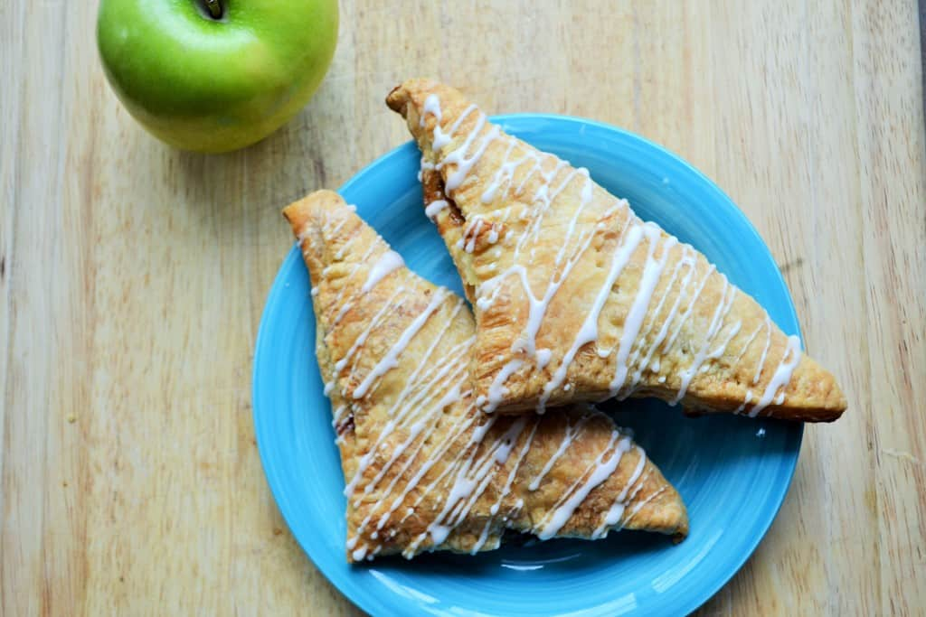 Puff Pastry Apple Walnut Turnovers