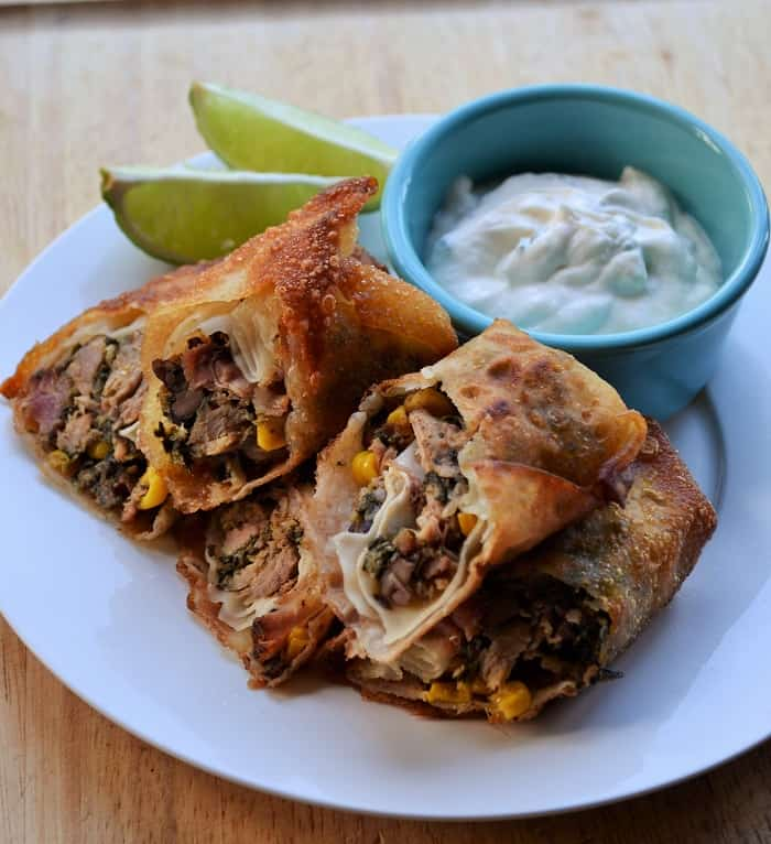 Smoked Pork Southwest Egg Rolls