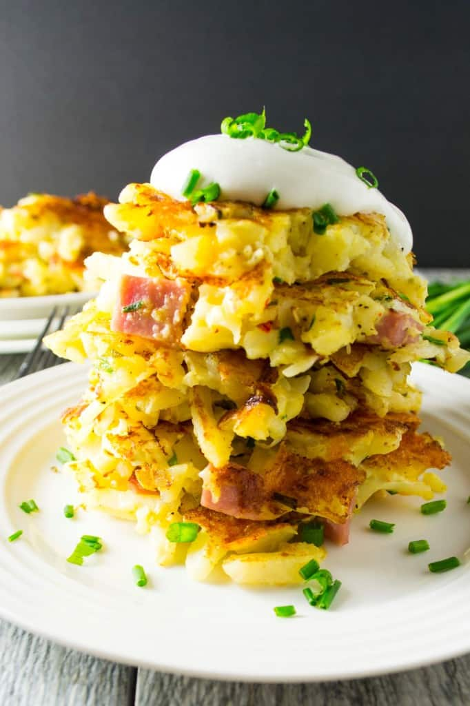 Ham and Cheese Potato Pancakes - Pack Momma