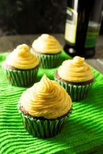 Irish Cream Cupcakes | These easy Irish Cream Cupcakes are the perfect sweet treat way to celebrate St. Patrick's Day or ANY day! | Pack Momma | https://www.packmomma.com