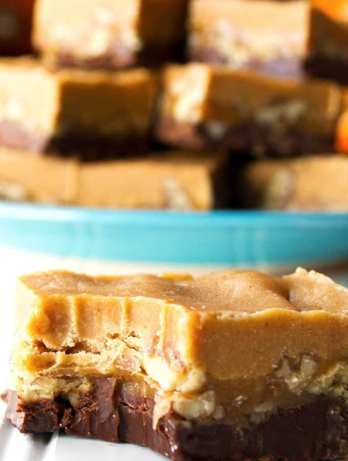 Turtle Peanut Butter Fudge