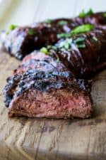 Grilled Flank Steak with Cherry Habanero BBQ Sauce   Grilled Flank Steak with Cherry Habanero BBQ Sauceis a tender steak grilled in a sweet and spicy sauce. Perfect for both busy weeknights and lazy weekends.  Pack Momma   https://www.packmomma.com