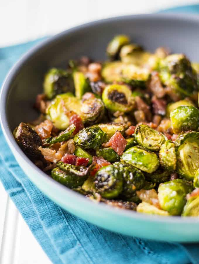 Garlic Brussel Sprouts with Bacon